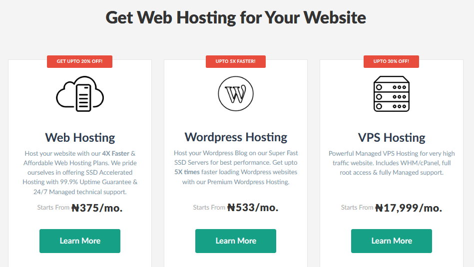 Domainking Hosting Plans and Prices