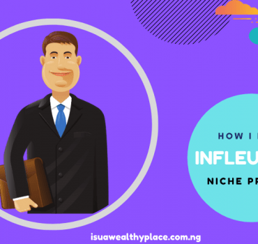become an influencer with niche website