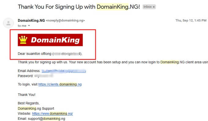 create A WordPress website With Domain King