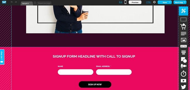 Create a Free Landing Page with GetReponse