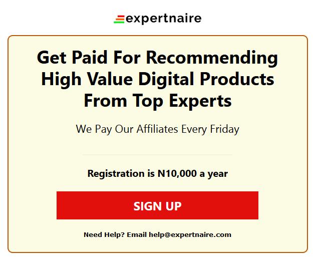expertnaire website