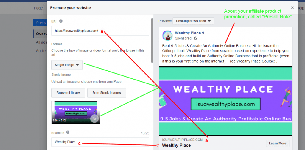 AFFILIATE MARKETING USING FACEBOOK ADS