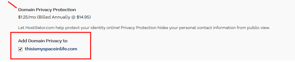 a website-select domain privacy