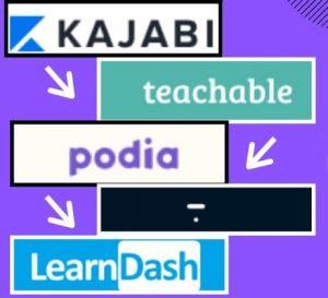 Thinkific Vs Teachable vs Kajabi vs Podia vs LearnDash