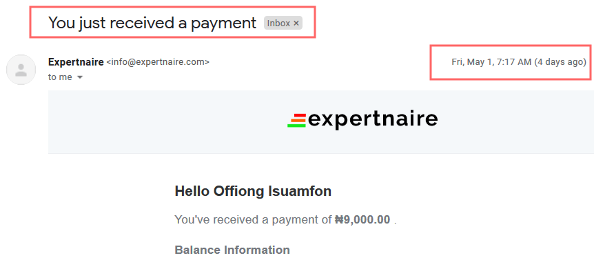 expertnaire review receive payment