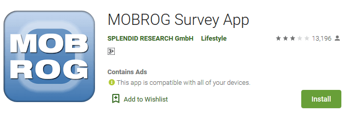 MOBROG Android Mobile App