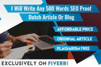 Fiverr Freelance Jobs-Articles & Blog Posts