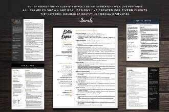 Fiverr freelanCe gig examples-Resume Design