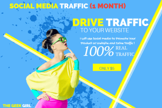 Web Traffic services with Fiverr freelancing
