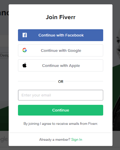 JOIN ANDF SIGN UP AND SIGN INFIVERR