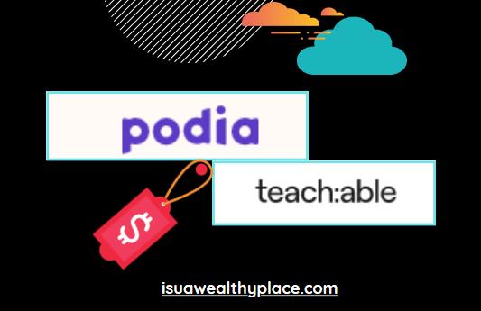 Podia vs Teachable Pricing