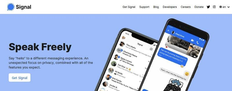 about signal private messenger