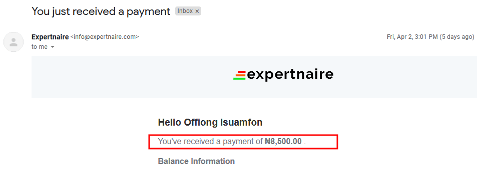 Expertnaire Affiliate payments - When and How Does Expertnaire Pay