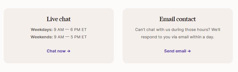 Podia customer support