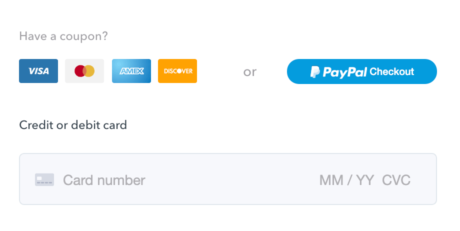 payment options on Podia